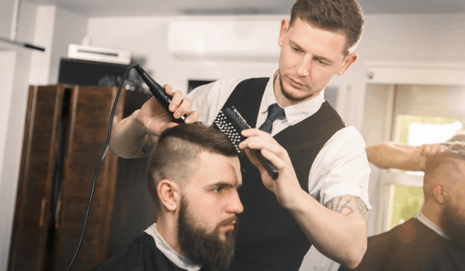 barber wearing a nice outfit