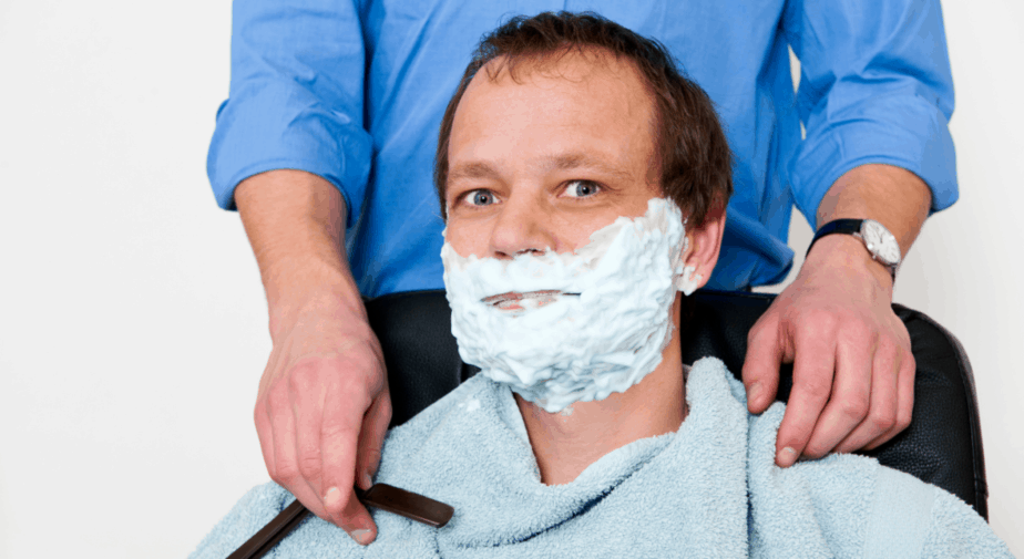 A man unwilling to pay his barber