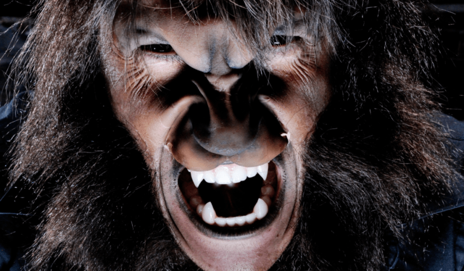 bad habits that men do, image of a man turning into a werewolf