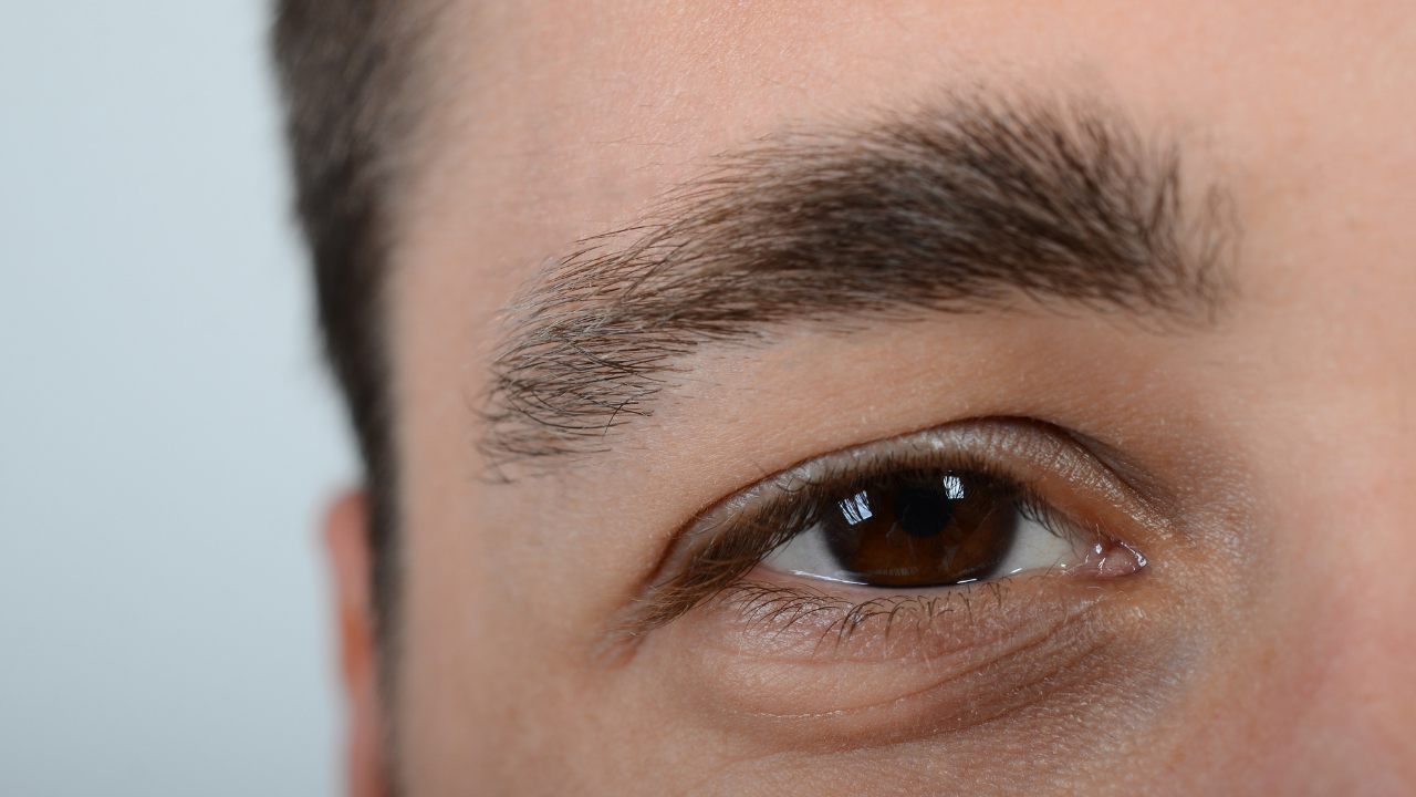 image of a man's eyebrows