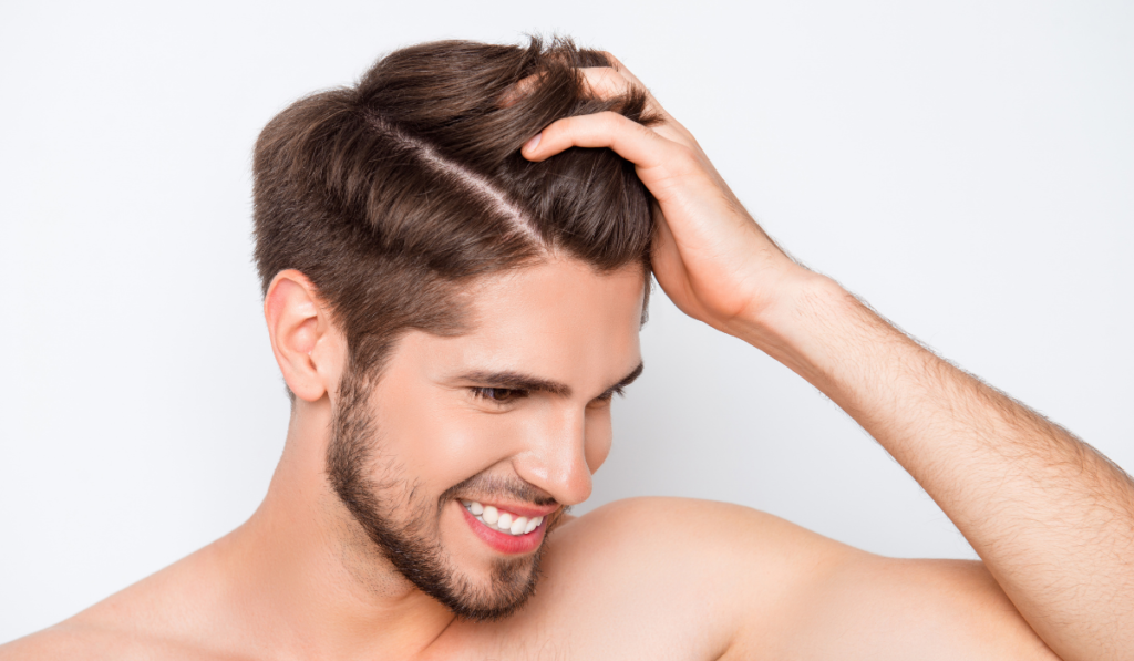 image of a guy with healthy looking hair